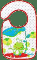 BABY ONO Podbradník froté / PVC stčervenáná, vodeodolný, 6m + Žaba