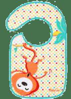 BABY ONO Śliniaczek frote/PVC średni, wodoodporny, 6m+ - Małpa