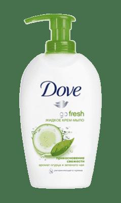 DOVE tekuté mydlo svieži dotyk 250ml