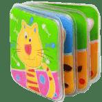 BABY ONO Mini knižka do vody pískacia – Mačka