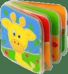BABY ONO Mini knižka do vody pískacia – Žirafa