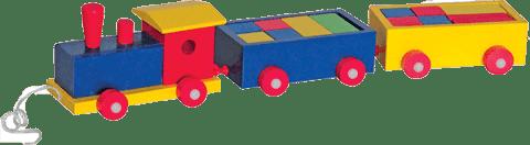 WOODY Vlak barevný 2 vagony