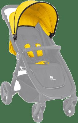 PETITE&MARS Strieška + polstrovanie Street - Neoprene Yellow