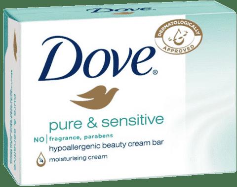 DOVE Pure and Sensitive krémová tableta pre citlivú pokožku 100 g