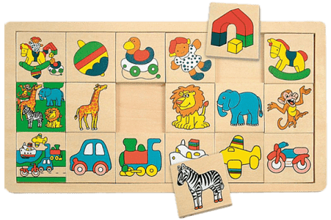 WOODY Układanka - Mała Żyrafa Suzie