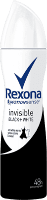 REXONA deo spray Invisible Black + White 150ml (antiperspirant)