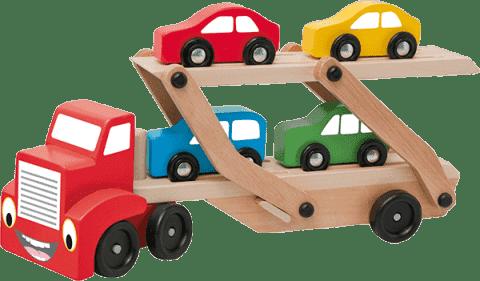 WOODY Ťahač s návesom na prepravu áut