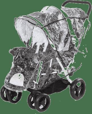ABC DESIGN Folia przeciwdeszczowa do wózka dla rodzeństwa – clear