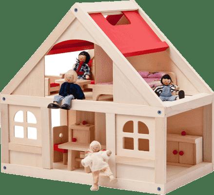 WOODY Domček pre bábiky s príslušenstvom , 21 dielov