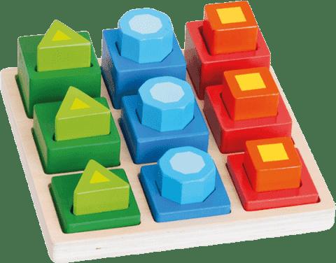 WOODY Vrstvené vkladacie tvary
