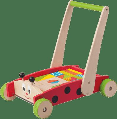 WOODY Vozík s kockami - Lienka