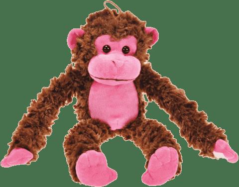 MIKRO TRADING Opice růžová 44cm