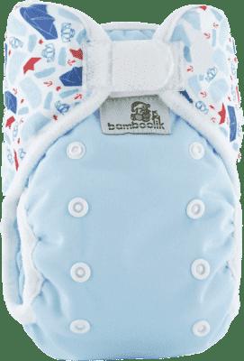 BAMBOOLIK Svrchní kalhotky, modrá+lodičky