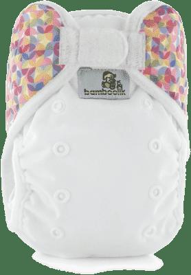 BAMBOOLIK Vrchné nohavičky, biela+polkruhy