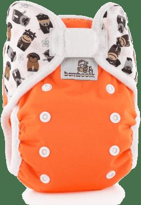BAMBOOLIK Vrchné nohavičky, oranžová+zvieratká