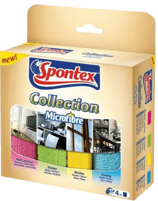 SPONTEX Mikroutěrky Collection, 4 ks
