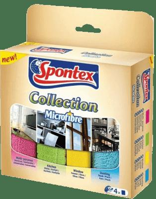 SPONTEX Ściereczki z mikrowłókna Collection, 4 szt.