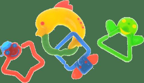 BABY'S HAPPINESS Grzechotka delfin – żółta