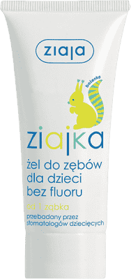 ZIAJA Baby zubný gél bez fluóru 50ml / Veverka /