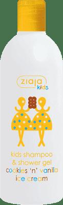 ZIAJA Kids šampón + sprchový gél 2 V 1 vanilkovo-Sušienková zmrzlina 400ml