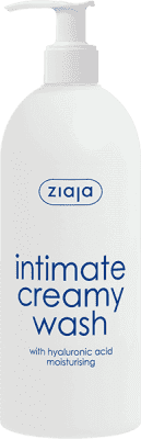 ZIAJA Krém na intímnu hygienu s kyselinou hyalurónová, hydratačné 500ml