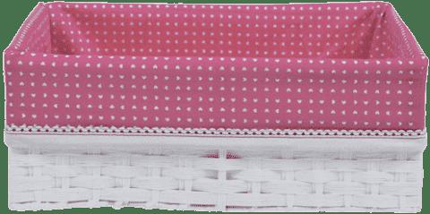 BEBE-JOU Košík na dojčenské potreby ABC ružový