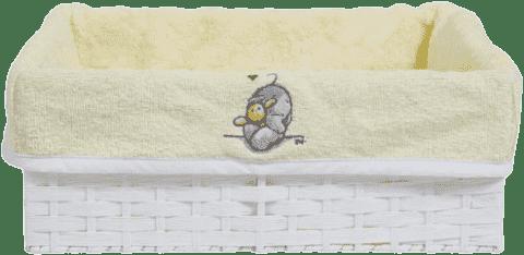 BEBE-JOU Košík na kojenecké potřeby 1 ks Humphrey žlutý