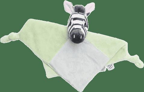 BEBE-JOU Plyšový mazlící ubrousek Dinky Zebra