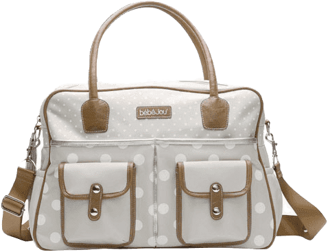 BEBE-JOU Luxusní přebalovací taška Natural krémový puntík