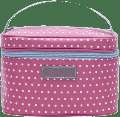 BEBE-JOU Beautycase-kosmetická taška, odepínací víko, ABC růžová