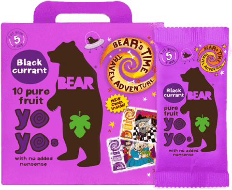 BEAR Yoyo želé – Černý rybíz (5x20g)