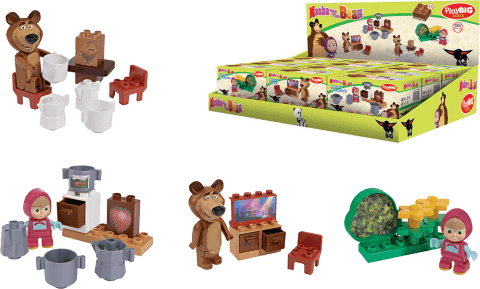 BIG Bloxx Máša a medvěd – Starter set