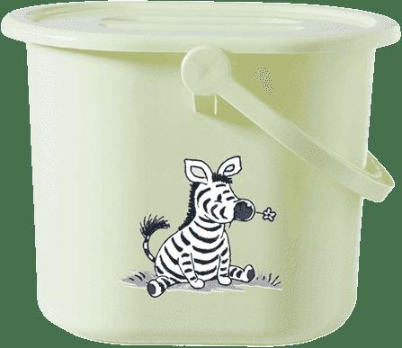 BEBE-JOU Kyblík na pleny Dinky Zebra sv. zelená