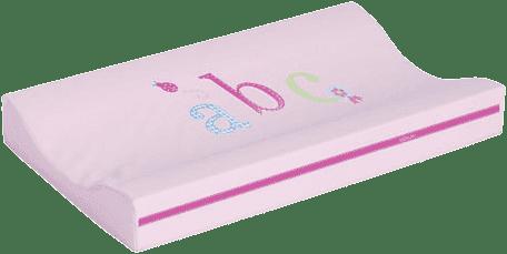 BEBE-JOU Přebalovací podložka malá ABC sv. růžová