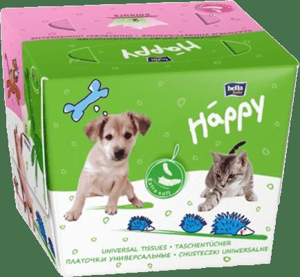 BELLA HAPPY papírové kapesníčky 80 ks (barevná krabička s 2 otvory)