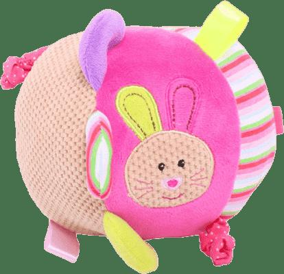 BIGJIGS Textilné motorická guľa - Králíček Bella