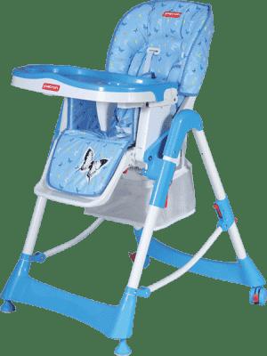 PATRON Składane krzesełko do karmienia troll – niebieskie/motyl