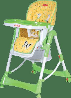PATRON Składane krzesełko do karmienia troll – żółte/motyl