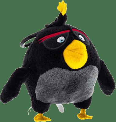 ANGRY BIRDS Plyšová hračka s nylon príveskom 14cm - Bomb