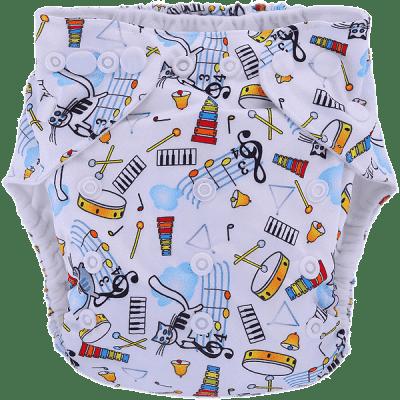 BOBOLIDER Plienkové nohavičky ECO polandia B52 - vložka z mikrovlákna