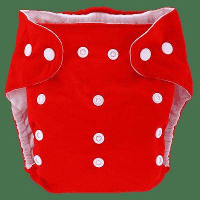 BOBOLIDER Plenkové kalhotky ECO Bobolider B7 – červené, bambusová vložka