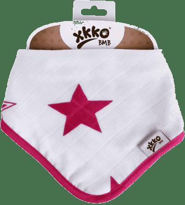 KIKKO Bambusowy śliniaczek/ściereczka Stars (1 szt.) – magenta
