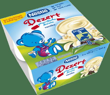 NESTLÉ Baby Dessert vanilkový (4x100 g)