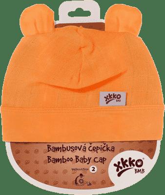 KIKKO Bambusová detská čiapočka Colours, vel. 3 - orange