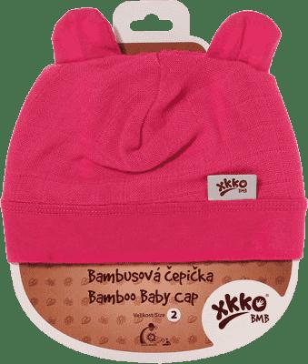 KIKKO Bambusowa dziecięca czapeczka Colours, rozm.3 - magenta
