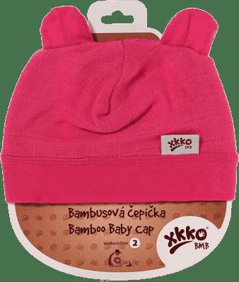 KIKKO Bambusová detská čiapočka Colours, vel. 4 - magenta