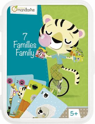 AVENUE MANDARINE Kartová hra Kvarteto Zvieracia rodinka