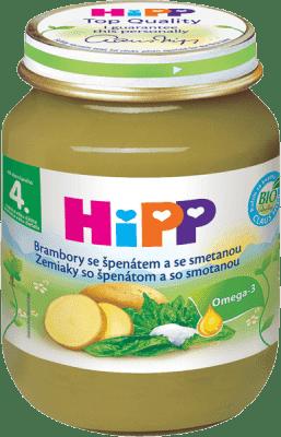 HIPP BIO Zemiaky so špenátom a so smotanou (125g) - zeleninový príkrm