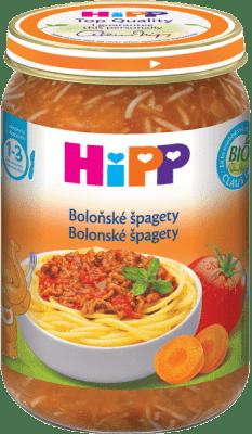HIPP BIO Boloňské špagety (250 g) - maso-zeleninový příkrm