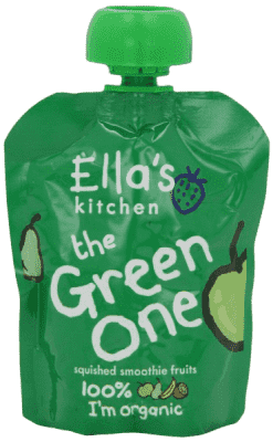 5x ELLA'S Kitchen Ovocné pyré - Jablko (The Green One) 90g